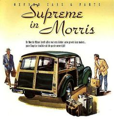 Morris Minor Supreme Wagon. (Poster from Denmark.)