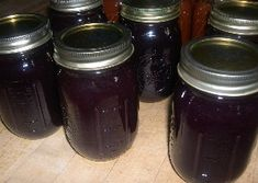 home canned grape jam (instructions on how to use squeezo strainer in process.  I always forget part of it)