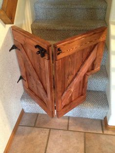 Our Custom Folding Barn Door Baby/Dog Gate is a stylish addition to any home and will keep your children and dogs safe while looking great. Barn Door Baby Gate, Diy Baby Gate, Baby Gates, Barn Doors, Wood Baby Gate, Sliding Doors, Diy Dog Gate, Diy Gate, Barn Door Hinges