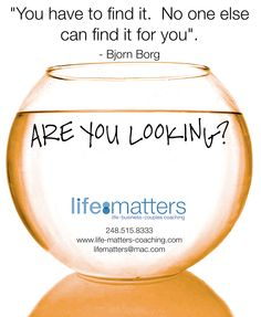 Daily fishbowl topic. Weigh in at https://www.facebook.com/lifematterscoachingdrw?ref=hl