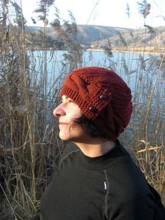Womens Hat   Knit hat   Autumn Fashion   Rust Orange by Ebruk