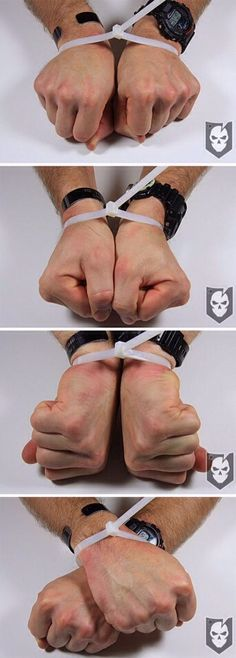 How To Escape From Zip Ties. A TIP ALL WOMEN SHOULD KNOW! #Health #Fitness #Trusper #Tip