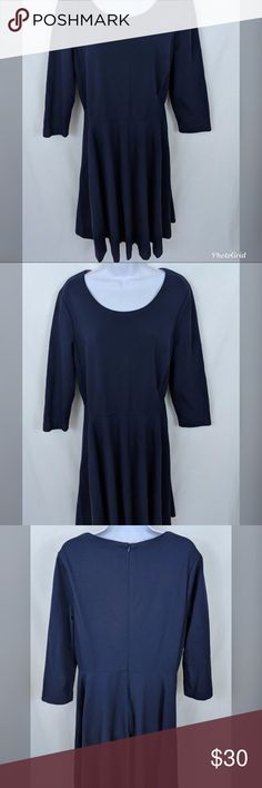 💙HP💙 Boden LouLou Dress Navy Blue Size US 16L 🚨This item is a Host Pick!🚨  Check out this Boden LouLou dress!  This dress is 98% cotton 2% elastane. Machine washable. Semi fitted shape. Length finishes above knee. Textured medium weight jersey. Unlined. Elbow length sleeves.  Size information: - US Sz 16L - UK Sz 20L  Condition Notes: Excellent used condition. No stains, smells, or fabric damage.  We will consider all reasonable offers. Thanks for shopping with us! Boden Dresses