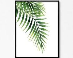 Image result for Tropical Palm Watercolor Wall Art picture