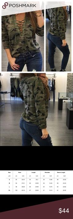 Sexy camo light weight shirt Really nice shirt that ties at chest Tops