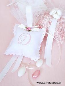 Μπομπονιέρα βάπτισης μαξιλάρι με μονόγραμμα και άρωμα Kai, Couture, Bebe, Haute Couture, Chicken