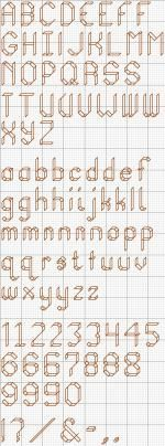 box kite x-stitch alphabet for backstitch