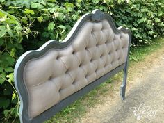 blue roof cabin: DIY Diamond Tufted Head Board