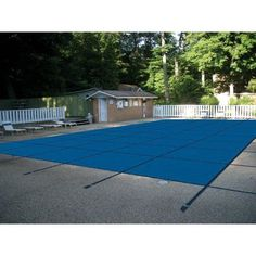 Water Warden Solid Pool Safety Cover, Blue