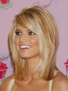 Jessica Simpson Medium Length Full Lace Straight Human Wigs - October 05 2019 at Medium Length Hair Straight, Medium Hair Cuts, Medium Hair Styles, Short Hair Styles, Mid Length Hair Styles For Women Over 50, Medium Length Hair With Layers And Side Bangs, Bob Hairstyles For Fine Hair, Hairstyles Haircuts, Bob Haircuts