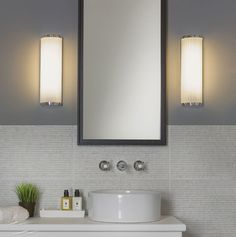 Mashiko 360 bathroom wall light in polished chrome and white glass buy this astrolighting monza plus 400 bathroom wall light in polished chrome and white opal aloadofball Image collections