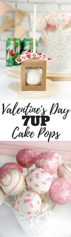 Valentine's Day 7UP Cake Pops, #ad, #JustAdd7UP, @Walmart @7up family friendly recipe, dessert
