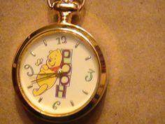 Disney Winnie The Pooh Clip on Pocket Watch Collectible Quartz