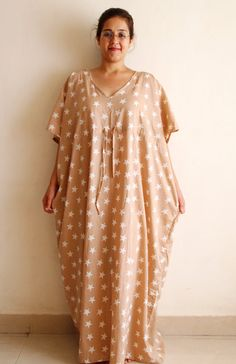 Plus size delivery gown, indian caftan, Maternity gown, Nursing ...