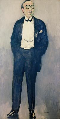 Portrait of Yves Mirande by Kees van Dongen (1877-1968). Mirande (1875 - 1957) was a French screenwriter, director, actor, and producer. Here he looks a little tipsy, perhaps just  home from a night on the town?
