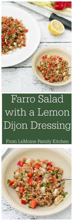 Farro Salad with a L
