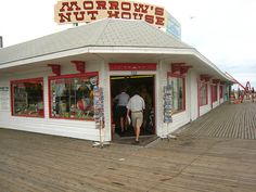 Morrow's Nut House, Cape May, NJ...beach trip is not complete without a visit to this landmark on the boardwalk.