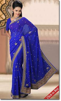 Cbazaar-Blue-Crystals-Enhanced-Chiffon-Saree