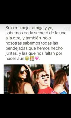 Muy sierto :) Best Friend Photos, Best Friend Goals, My Best Friend, Bff Images, Bff Pictures, Bff Quotes, Words Quotes, Youtube Memes, Love You Friend