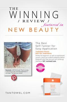 Rave Reviews! #tantowel #selftanner #beauty #NewBeauty www.tantowel.com