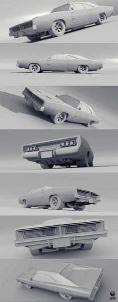 Model 3D of Charger 1969 - Modo 801 W.I.P.