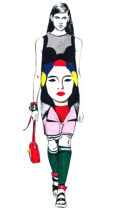Prada & Miu Miu inspired. by Diana Kuksa (Nesypova), via Behance