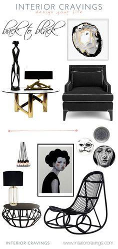 black details and accent pieces interior design