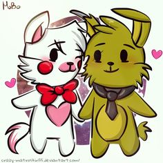 Chibi Mangle and Springtrap.:3 by Crazy-Matroskin55 on DeviantArt