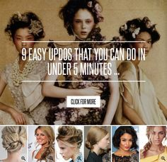 9 Easy Updos That You Can do in under 5 Minutes ... → Hair