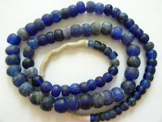 Trade Beads | Cobalt Blue Dogon Glass Beads | Made by the Dutch in the 1700s until the late 1900s, they were traded in Africa with the Dogon tribe in Mali.