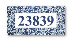 Custom house numbers sign, House number plaque, Custom address sign, Address plaques, Blue numbers s House Number Plates, Tile House Numbers, Address Numbers, Address Plaque, Ceramic Wall Art, Ceramic Birds, Outdoor Wall Art, Outdoor Walls, Hand Painted Ceramics