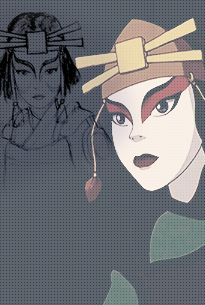"""Avatar: The Last Airbender"" - Suki early concept art/final product. Avatar Kyoshi, Korra Avatar, Team Avatar, Avatar The Last Airbender, Kyoshi Warrior, Water Bender, Prince Zuko, Avatar World, Iroh"