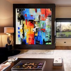 Abstrait peinture Art contemporain Wall extra-large