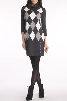 Dress In Charcoal.