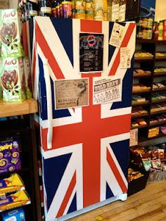 Union Jack Refrigerator - I want one! London Candy Company