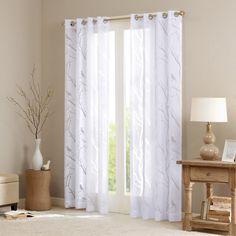 Madison Park Vina Sheer Bird Curtain - 50'' x 84''