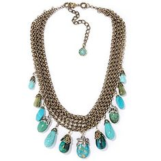 Celebrate your love of jewelry with this Sweet Romance turquoise & gemstone necklace!