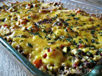 This Mexican Ground Beef Casserole is a quick and easy weeknight, family-friendly dinner. And cheese...ALL THE CHEESE!