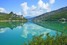Blue waters in the Castellane area