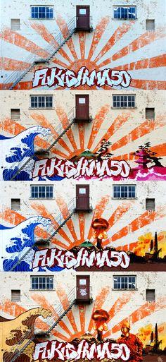 #3Steps #fukushima 50     #streetart #muralart #graffiti #urbanart   #giessen #3stepscrew #giessen   #Atom #Tsunami #Japan #Umwelt Fukushima, Tsunami, Mural Art, Graffiti, Comic Books, Japan, Comics, Kunst, Mural Wall Art