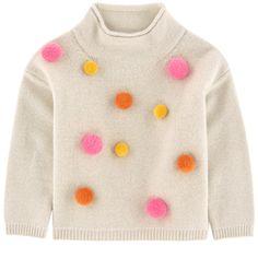 Fine knit Merino wool Warm item High collar Long sleeves Fancy bobbles - 125,00 €