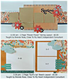 TOP layout ONLY.... by Brenda Rose using CTMH Claire paper