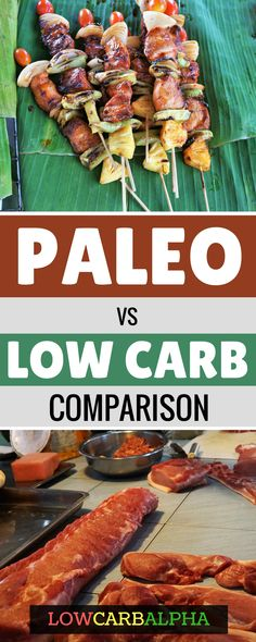 Paleo vs low carb comparison https://lowcarbalpha.com/paleo-vs-low-carb/ which is the best diet to improve health, wellbeing and lose weight #lowcarb #keto #paleo #lowcarbalpha