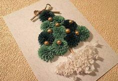 Este cartão de Natal com papel reciclado é lindo, mas muito simples de ser feito (Foto: Divulgação)