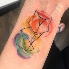 Tribal Pattern Tattoos, Tattoos Geometric, Geometric Fox, Simple Tattoos For Guys, Tattoos For Women, Fox Tattoo Design, Tattoo Designs, Tattoos Realistic, Sharpie Tattoos