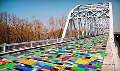 Bridge Transformed into Giant LEGO Bricks by German Street Artist MEGX - Google Search