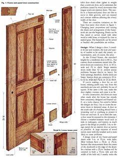 Building Doors - Door Construction and Techniques - Woodwork Woodworking Woodworking Plans Woodworking Projects & Ken Olson (kenolson1) on Pinterest