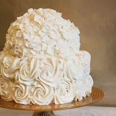 Beautiful wedding cake #food #wedding #cake