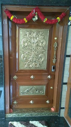 49 Trendy Ideas for main door design entrance indian Front Door Design Wood, Wooden Door Design, Wooden Front Doors, Wood Barn Door, Wood Doors, Barn Doors, Pooja Room Door Design, Green Front Doors, Traditional Doors