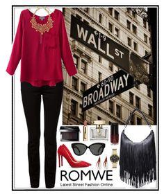 """Romwe 10"" by amra-f ❤ liked on Polyvore featuring moda, Alexander Wang, Prada, Marc by Marc Jacobs, Oscar de la Renta, Linda Farrow, Bobbi Brown Cosmetics ve Gucci"